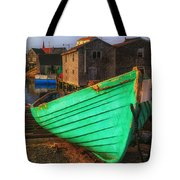 Green Boat Peggys Cove Tote Bag