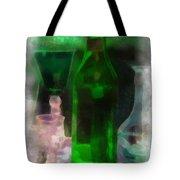 Green Bottle Photo Art Tote Bag