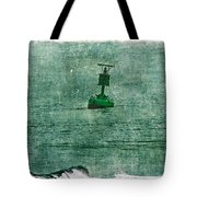 Green Buoy - Barnegat Inlet - New Jersey - Usa Tote Bag