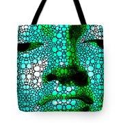 Green Buddha - Stone Rock'd Art By Sharon Cummings Tote Bag