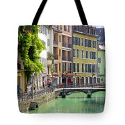 Green Canal Tote Bag