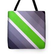 Green Chevron Tote Bag