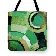 Green Circle Abstract Tote Bag