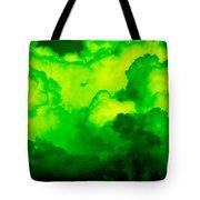 Green Clouds Tote Bag