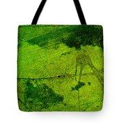 Green Color Sigh Tote Bag