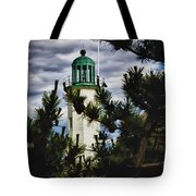 Green Copper Lantern Room On Scituate Lighthouse Tote Bag