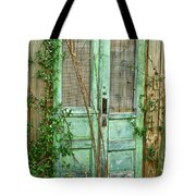 Green Cottage Doors Tote Bag