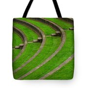 Green Curves And Steps Tote Bag