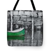 Green Dinghy Floating Tote Bag