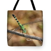 Green Dragonfly Square Tote Bag
