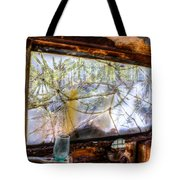 Green Drinking Glass And Smoky Bronken Windshield Tote Bag