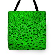 Green Drops On Water-repellent Surface Tote Bag