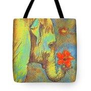 Green Elephant Tote Bag