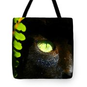 Green Eyed Black Cat Tote Bag