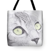 Green Eyed Cat Tote Bag