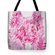 Green Eyes Dog / Oil Portrait Tote Bag
