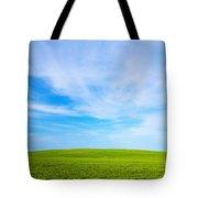 Green Field Landscape Tote Bag