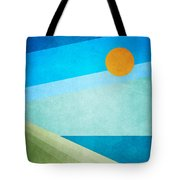 Green Fields Blue Waters Tote Bag