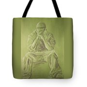 Green Figure I Tote Bag