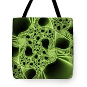 Green Filigree Tote Bag