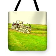 the sea is green but I still wanna go fishing  Tote Bag