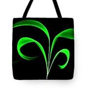 Green Flaring Plant Tote Bag