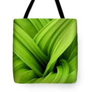Green Folds Tote Bag