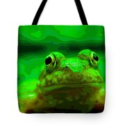 Green Frog Poster Tote Bag
