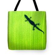 Green Gecko Leaf Tote Bag