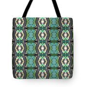 Green Geometric Abstract Pattern Tote Bag