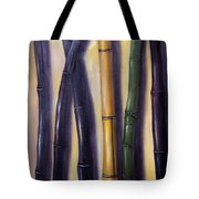 Green Gold And Black Bamboo Tote Bag