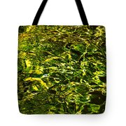 Green Gold Water Abstract. Feng Shui Tote Bag by Jenny Rainbow