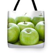 Green Granny Smith Apples Tote Bag