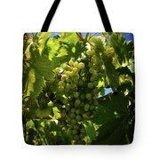 Green Grapes On The Vine Tote Bag