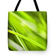 Green Grass Abstract Tote Bag by Elena Elisseeva