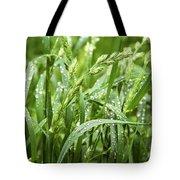 Green Grass After Rain Tote Bag