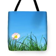 Green Grass And A Flower Tote Bag