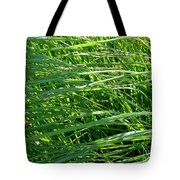 Green Grass Growing Tote Bag