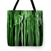 Green Grass Smoke Photography Tote Bag