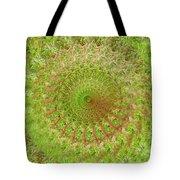 Green Grass Swirled Tote Bag