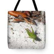 Green Grasshopper Tote Bag