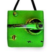 Green Handle Tote Bag