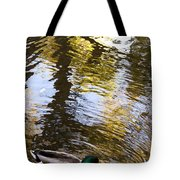 Green Head Mallard Duck Tote Bag