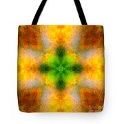 Green Heart Rainbow Light Mandala Tote Bag