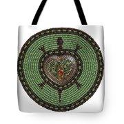 Green Heart Turtle Tote Bag by Douglas K Limon