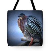 Green Heron Vignetted  Tote Bag
