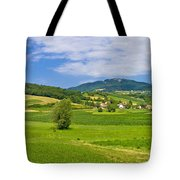 Green Hills Nature Panoramic View Tote Bag