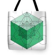 Green Hypercube Tote Bag