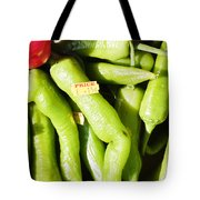 Green Jalpeno Peppers Tote Bag