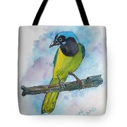 Green Jay Bird Texas Tote Bag
